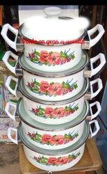 Pack de 05 assiettes - blanc fleurie