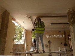 Plâtrage faux plafond