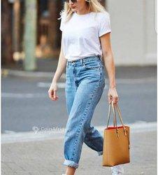 Ensemble t-shirt + pantalon jeans femme