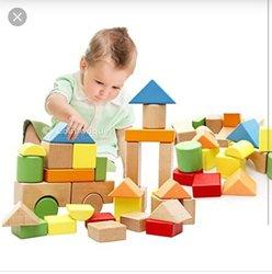 Cube de construction en bois