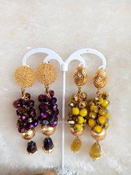 Boucles d'oreilles deby's perle