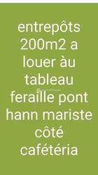 Location Entrepôt 200 m² - Hann Maristes