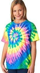 T-shirt indigo spiral local