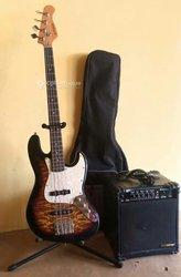 Guitare basse + ampli basse