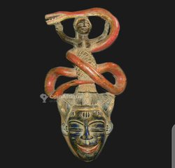 Masque africain zaouli