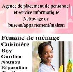 Placement de personnel - femme de ménage