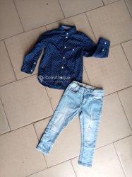 Ensemble chemises + pantalon friperie enfants