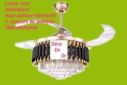 Lampe lustre avec ventilateur