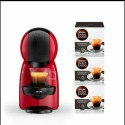 Pack Machine à café à capsules Krups Nescafé Dolce Gusto Piccolo XS rouge - 3 paquets capsules Expresso Intenso