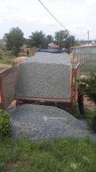 Gravier concassé et sable