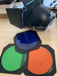 Filtre couleur de flash studio