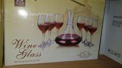 Carafe à vin et verre