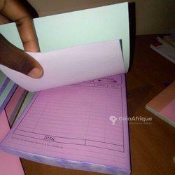 Personnalisation carnets de facture