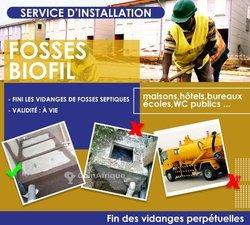 Service d'installation fosse biofil