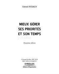 Livre PDF -  Mieux gérer ses priorités et son temps
