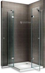 Kit salle de bain cabine de douche + receveur + lavabo
