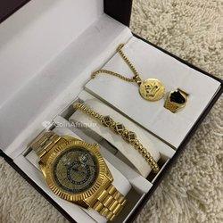 Ensemble montre bracelet - bague - collier Rolex