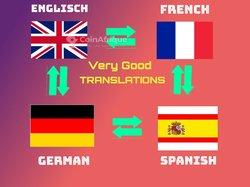 Traduction en français - anglais - allemand - espagnol