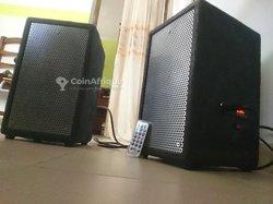 Enceintes jumelles Bluetooth amplifiées