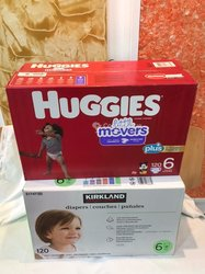 Couches Huggies - Kirkland - taille 6