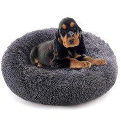 Lit calmant chien donut