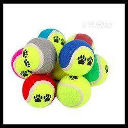 Balle de tennis flexible en caoutchouc pour chien