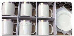 Ensemble tasses et sous tasses en céramique - 12 pièces