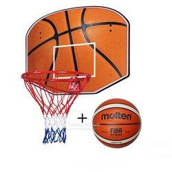 Panier et ballon de basket