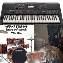 Piano psre463 + batterie pro Yamaha