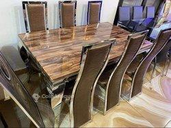 Table en Marbre - 6 Chaises