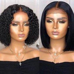 Cheveux 12 raides - frisés 5 boules