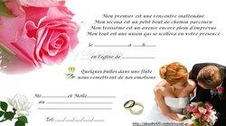 Impression carte de mariage