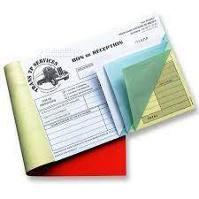 Confection carnet de facture