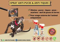 Spray anti puces et tiques