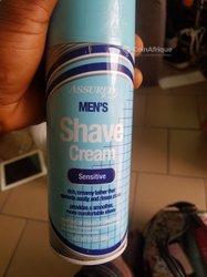 Men shave cream