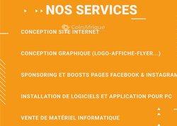 Conception site Internet - conception graphique - installation logiciel sur PC