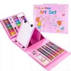 Pochette de crayons de couleur et feutres pour enfant