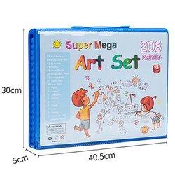 Pochette de crayons de couleur et feutres pour enfants
