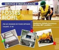Installation de fosses biofil