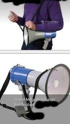 Mégaphone avec bandoulière