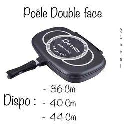 Poêle double face 36cm
