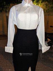 Ensemble jupe - chemise blanche