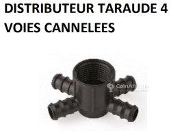 Distributeur Taraude 4 voies cannelées