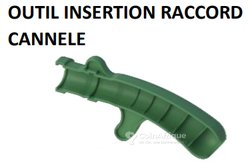 Outil insertion raccord cannelé