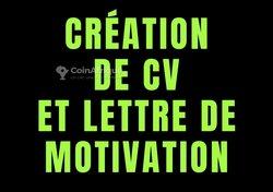Création de CV et lettre de motivation