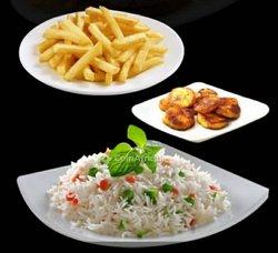 Riz + frites + aloco