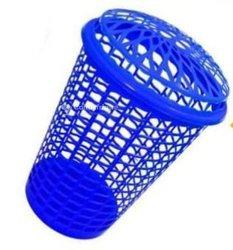 Mini panier à linge bleu