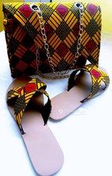 Sac mini en wax + chaussures