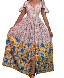 Longue robe en pagne