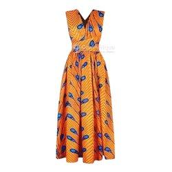 Robe en soie - orange